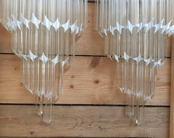 2 Wall sconses quadriedo murano glass chandelier