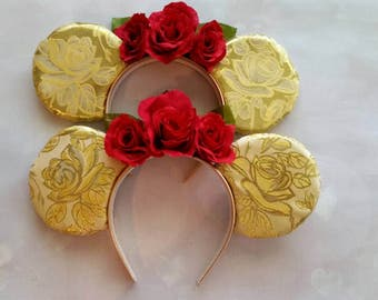 Belle inspired Beauty and the Beast ears