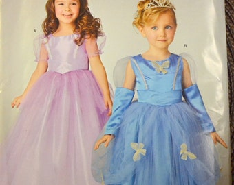 Princess Costumes Sewing Pattern Simplicity 0331 Girls Princess Dresses Costumes Size 3-6 Uncut Complete FF