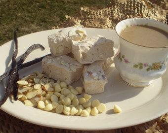 French Vanilla White Chocolate Almond Coffee Marshmallows desert, gourmet, handmade party favor wedding