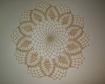 Large lace doily elegant crochet doilies Round crochet centerpiece Pineapple crochet doily Crochet decoration Lace decor