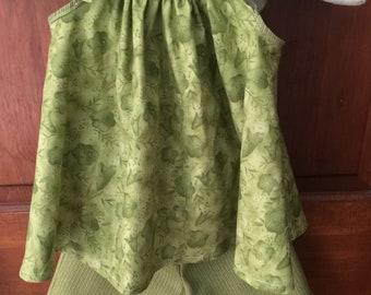 Girls summer top and shorts set size 4 handmade