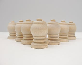 Unfinished Game pieces or pawns set of 10