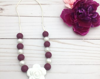 Kids Teething Necklace | Non Toxic Jewelry | Kids Bijouterie | Toddler Necklace | Dress up Jewelry | Chew Necklace | Kids Sensory Necklace