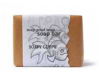 Natural Mild Handmade Baby Soap Bar Hand Crafted Soap Unscented Soapy Guppy Free Shipping