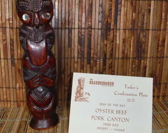 Vintage 1970's Beachcomber Restaurant Menu Cards - Vintage Tiki Restaurant Menu - '70's Tiki Restaurant Menu - Vintage Retro Tiki Menu Cards