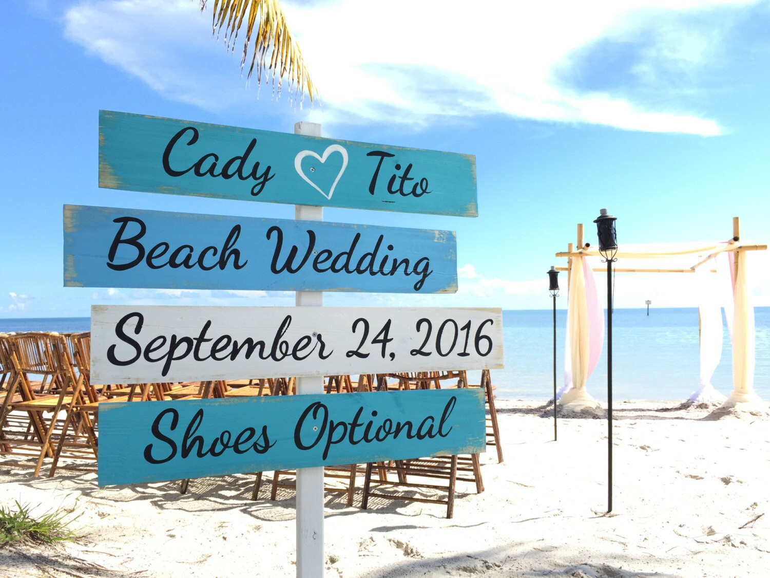 Wedding Decor Beach Sign Wood Nautical Directional Signs Shoes
