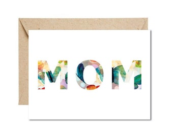 Floral MOM Mother's Day or Birthday Card