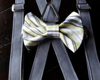 Boys Bow Tie and Suspender Set for newborn, toddler and boys