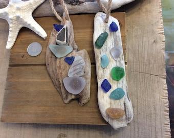 Sea glass tree hangers