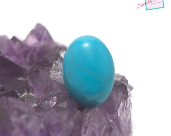 "cabochon 1 ""Oval 18 x 13 mm"" turquoise, natural stone"
