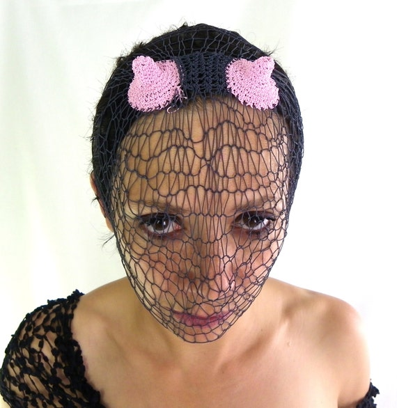 kinky golden rubber lace mask. fetish lace. fishnet spiral crochet lace. handmade all sizes EyzJh