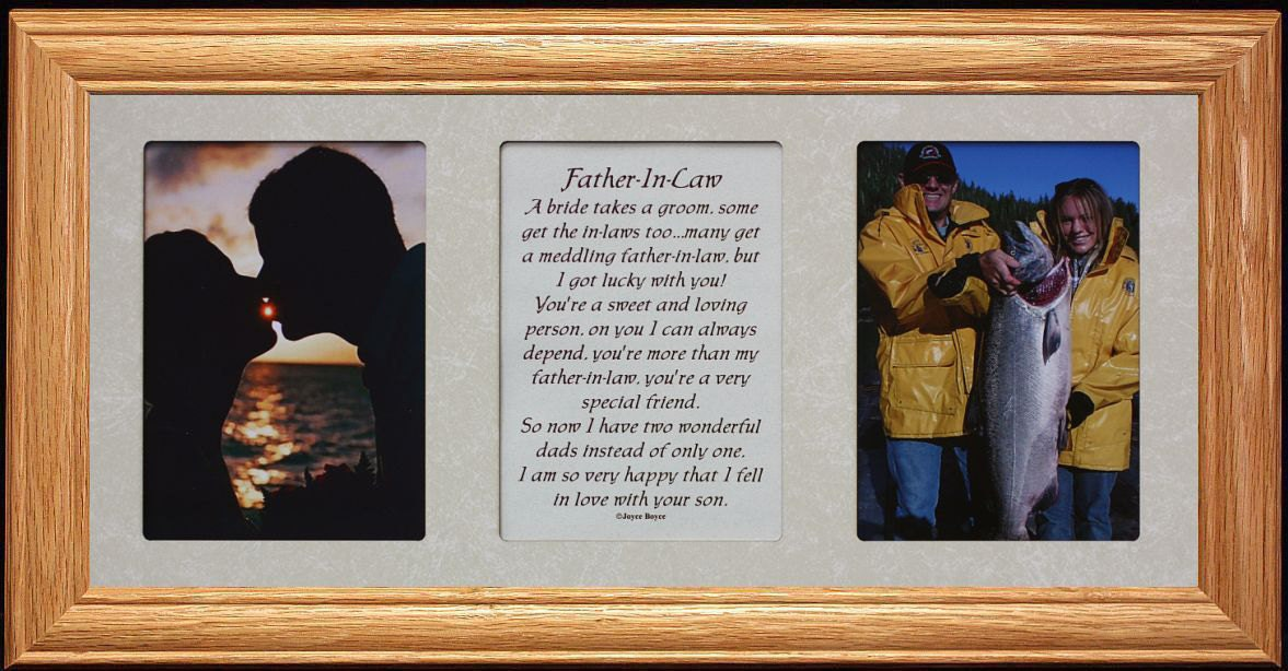 7x15 FATHER IN LAW Poetry & Photo Frame ~ Wedding/Christmas or ...