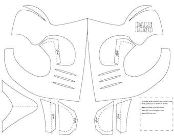 Mortal Kombat Scorpion Mask PDF Template