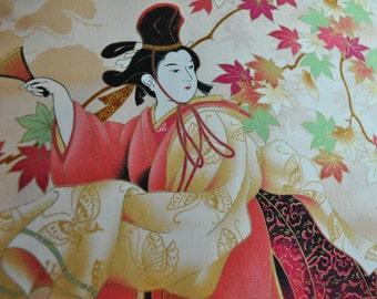 Meditation Cushions Handcrafted Zafu and Zabuton Dancing Geisha