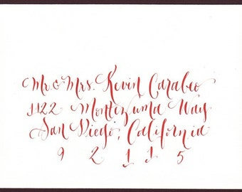wedding envelope calligraphy addressing for wedding invitation