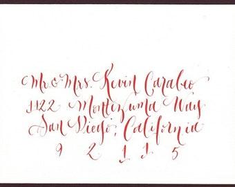 calligraphie d'enveloppe mariage pour faire part de mariage