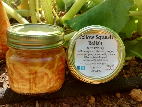 Sweet Yellow Summer Squash, Squash Relish