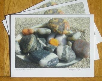 Beach Rocks, Photo Art Card