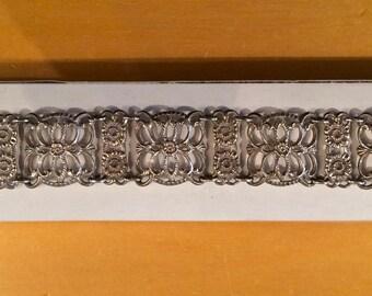 Danish Vintage 830 Solid Silver Filigree Bracelet - Stunning