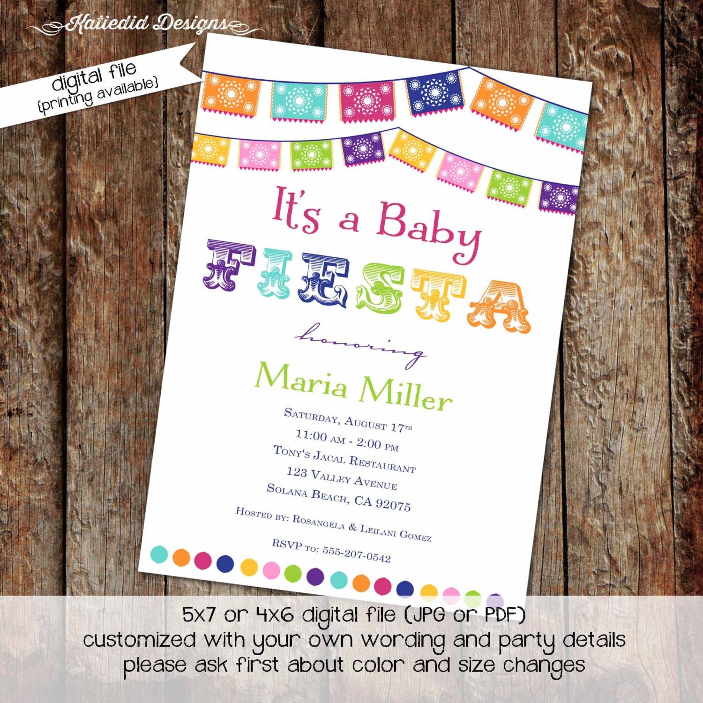 Fiesta baby shower invitation Mexican baby shower invitation Fiesta ...