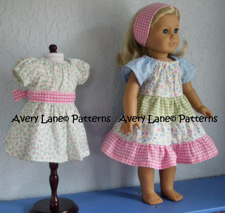 Ivys apron peasant 18 doll dress pattern boutique zoom jeuxipadfo Image collections