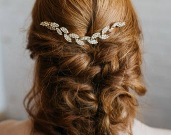 Gold Leaf Hair Vine   Gold Leaf Headpiece   Bridal Hair Vine   Gold Wedding Hairpiece   Petite Gracie Headpiece
