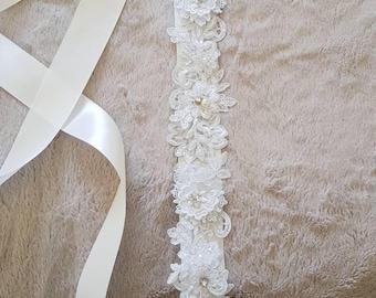sash. Bridal sash. Wedding bridal sash..