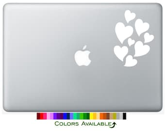 Hearts Laptop Decal