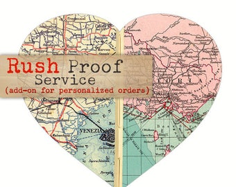 Rush Proof Add-On, 1-2 Business Day Proof for Personalized Map Art orders