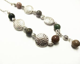 Necklace gemstones spacer circles and flowers