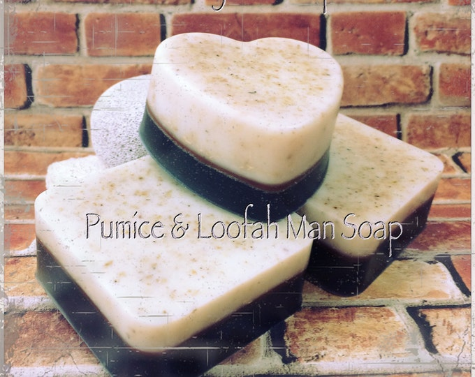 "Pumice & Loofah ""Man Soap"" Bar Scrub/Beer, Bacon, Fresh Outdoors, Stud Scent"