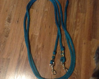 """2  10'  5/8""""  lead ropes  teal  bolt snap"""