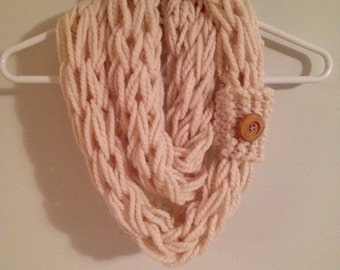 Cowl Neck Infinity Scarf with Button