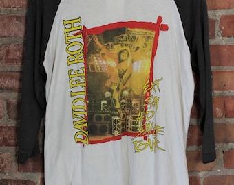 Vintage 1986 David Lee Roth Eat Em and Smile Jersey Concert T Shirt