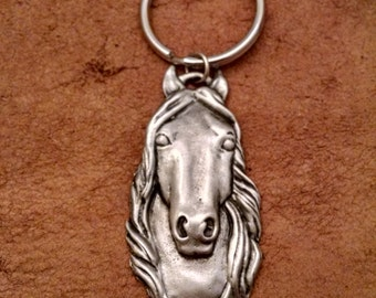 Horsehead Keychain   Andalusian Horse Keychain   Horse Keychain   Iberian Horse Keychain Gift for Horse Lover