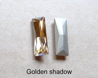 1 cabochon baguette Crystal Austrian 21x7mm, 2 colors