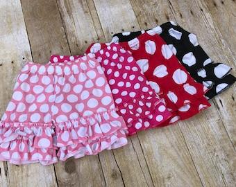Polka dot ruffle shorties, ruffle shorts, Disney shorts