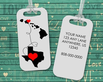 Luggage Tag - Personalized Bag Tag - Suitcase Tag - Gift for Traveler -Backpack Tag - Mothers Day Gift - Gift for Bride