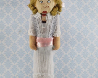 """Bette Davis as Baby Jane Unique 8"""" Size Limited Edition One of a Kind Nutcracker Collectible"""