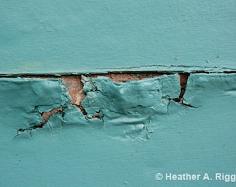 Mint, Green, Peeling Paint, Abstract, Photograph, decay, turquoise