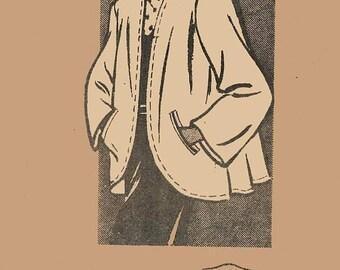 ON SALE Vintage 1940s Swing Coat Jacket Sewing Pattern Mail Order Pattern 4945 Swing Era 40s Pattern Size 16 Bust 34