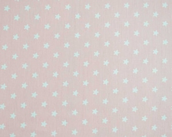 Fabric 100% cotton-pink with white stars