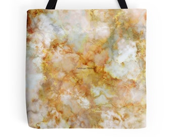 Gold Rippled Marble Tote Bag, 3 Sizes Available!