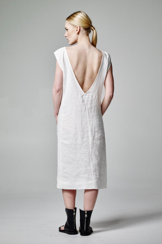 Weißes Leinen Kleid Leinen Hochzeit Boho Hochzeit Kleid