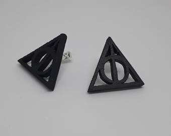 Earrings wooden Harry Potter Deathly Hallows