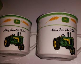 John Deere Coffee Mugs / John Deere / Coffee Mug / Coffee  Cup / Tractor Mugs / Tractors / Green Tractors / Coffee Mug Set / Farmhouse /Sale