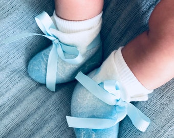 Felted Love Boots   Light Blue