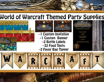 World of Warcraft Themed Party Supplies