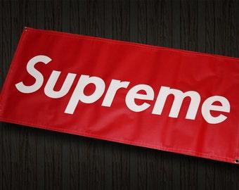 Supreme 2'X4' Vinyl Banner room garage shop sign